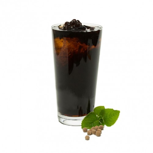 Peppermint Grass Jelly Juice with Pearl